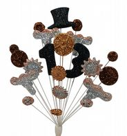 Steam punk 13th birthday cake topper decoration - free postage
